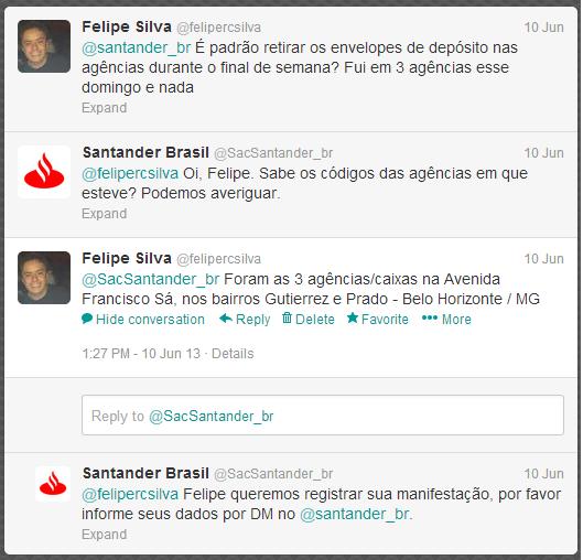 Twitter Banco Santander