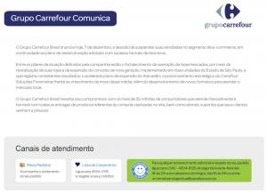 Aviso E-commerce Carrefour