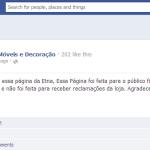 No Facebook, Etna reclama das reclamações